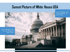 Sunset Picture Of White House USA Ppt PowerPoint Presentation Show PDF