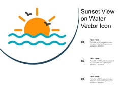 Sunset View On Water Vector Icon Ppt PowerPoint Presentation File Graphics Design PDF
