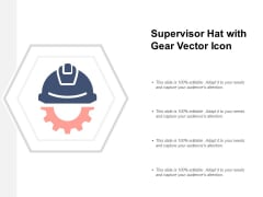 Supervisor Hat With Gear Vector Icon Ppt PowerPoint Presentation Professional Summary