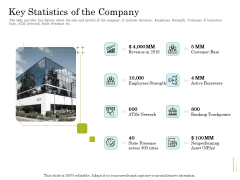 Supplementary Debt Financing Pitch Deck Key Statistics Of The Company Information PDF