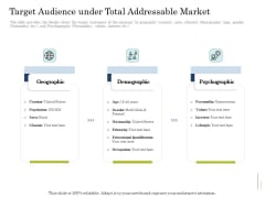 Supplementary Debt Financing Pitch Deck Target Audience Under Total Addressable Market Diagrams PDF