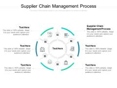 Supplier Chain Management Process Ppt PowerPoint Presentation Pictures Smartart Cpb