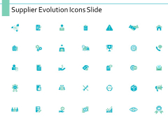 Supplier Evolution Icons Slide Marketing Ppt PowerPoint Presentation Infographics Guidelines