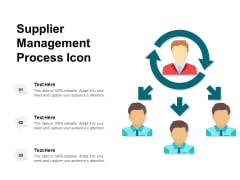 Supplier Management Process Icon Ppt PowerPoint Presentation Icon Inspiration PDF