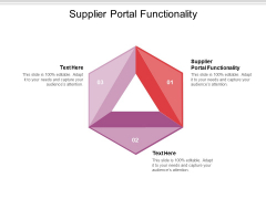 Supplier Portal Functionality Ppt PowerPoint Presentation Infographic Template Sample Cpb Pdf