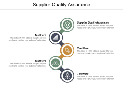 Supplier Quality Assurance Ppt PowerPoint Presentation Ideas Slide Cpb