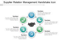 Supplier Relation Management Handshake Icon Ppt PowerPoint Presentation Styles Files