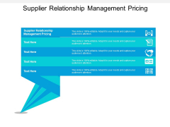 Supplier Relationship Management Pricing Ppt PowerPoint Presentation Infographic Template Background Designs Cpb
