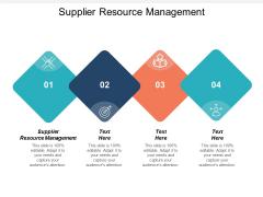 Supplier Resource Management Ppt PowerPoint Presentation Summary Portfolio Cpb