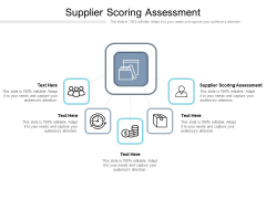 Supplier Scoring Assessment Ppt PowerPoint Presentation Gallery Cpb Pdf