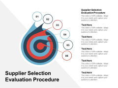 Supplier Selection Evaluation Procedure Ppt PowerPoint Presentation Outline Ideas Cpb