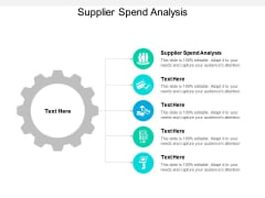 Supplier Spend Analysis Ppt PowerPoint Presentation Styles Cpb