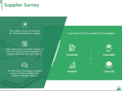 Supplier Survey Ppt PowerPoint Presentation Model Tips