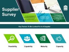 Supplier Survey Ppt PowerPoint Presentation Pictures Show