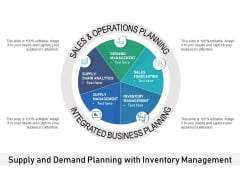 Supply And Demand Planning With Inventory Management Ppt PowerPoint Presentation Portfolio Images PDF