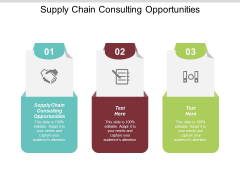 Supply Chain Consulting Opportunities Ppt PowerPoint Presentation Styles Background Designs Cpb