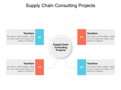 Supply Chain Consulting Projects Ppt PowerPoint Presentation Layouts Skills Cpb