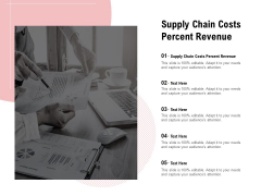 Supply Chain Costs Percent Revenue Ppt PowerPoint Presentation Outline Shapes Cpb Pdf