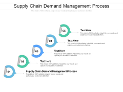 Supply Chain Demand Management Process Ppt PowerPoint Presentation Infographics Demonstration Cpb