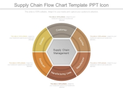 Supply Chain Flow Chart Template Ppt Icon