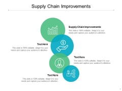 Supply Chain Improvements Ppt PowerPoint Presentation Icon Brochure Cpb