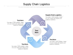 Supply Chain Logistics Ppt PowerPoint Presentation Ideas Graphic Tips Cpb