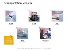 Supply Chain Logistics Transportation Medium Ppt Show Introduction PDF