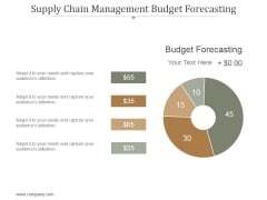 Supply Chain Management Budget Forecasting Ppt PowerPoint Presentation Professional