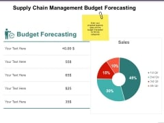 Supply Chain Management Budget Forecasting Ppt PowerPoint Presentation Styles Styles