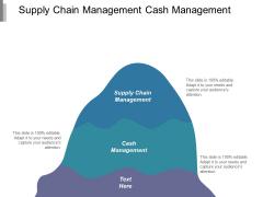 Supply Chain Management Cash Management Ppt PowerPoint Presentation Ideas Maker