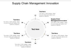 Supply Chain Management Innovation Ppt PowerPoint Presentation Professional Slideshow Cpb
