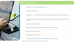 Supply Chain Management Operational Metrics EOQ Assumptions Ppt Infographics Backgrounds PDF