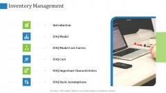 Supply Chain Management Operational Metrics Inventory Management Mockup PDF