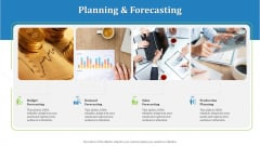 Supply Chain Management Operational Metrics Planning And Forecasting Graphics PDF