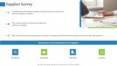 Supply Chain Management Operational Metrics Supplier Survey Graphics PDF