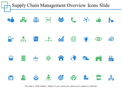Supply Chain Management Overview Icons Slide Management Marketing Ppt PowerPoint Presentation Summary Demonstration