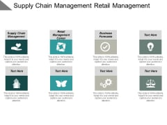 Supply Chain Management Retail Management Career Business Forecasts Ppt PowerPoint Presentation Outline Demonstration