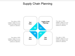 Supply Chain Planning Ppt PowerPoint Presentation Show Objects Cpb
