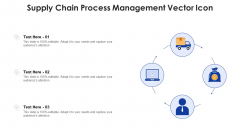 Supply Chain Process Management Vector Icon Ppt PowerPoint Presentation Gallery Format PDF