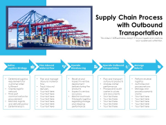 Supply Chain Process With Outbpund Transportation Ppt PowerPoint Presentation Slides Grid PDF