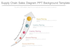 Supply Chain Sales Diagram Ppt Background Template