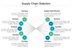 Supply Chain Selection Ppt PowerPoint Presentation Styles Rules Cpb