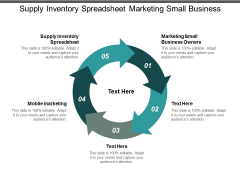 supply inventory spreadsheet marketing small business owners mobile marketing ppt powerpoint presentation file icons