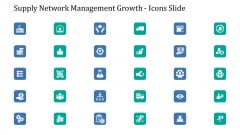 Supply Network Management Growth Icons Slide Ppt Slides Ideas PDF