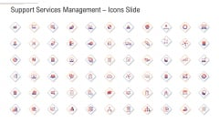 Support Services Management Icons Slide Ppt Layouts Brochure PDF