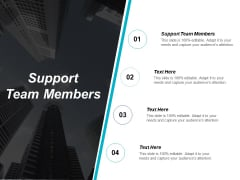 Support Team Members Ppt PowerPoint Presentation Summary Introduction Cpb