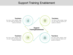 Support Training Enablement Ppt PowerPoint Presentation Styles Design Inspiration Cpb