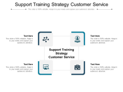 Support Training Strategy Customer Service Ppt PowerPoint Presentation File Gridlines Cpb Pdf