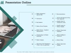 Survey Analysis Gain Marketing Insights Presentation Outline Demonstration PDF