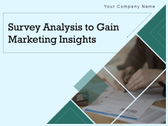 Survey Analysis To Gain Marketing Insights Ppt PowerPoint Presentation Complete Deck With Slides